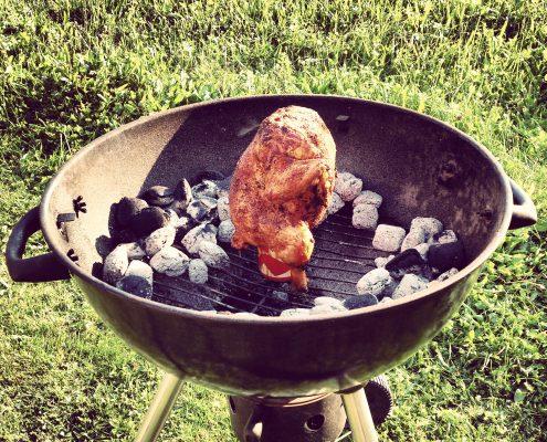 Huhn auf einer Bierdose grillen - Rezept