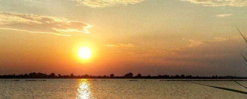 Sonnenuntergang in Grado Italien