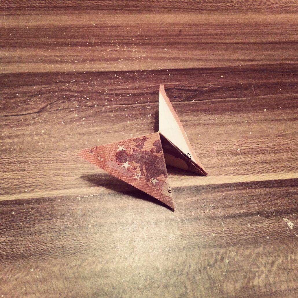 Schmetterling Aus Geldschein Falten Geldgeschenk Kreativ Blog