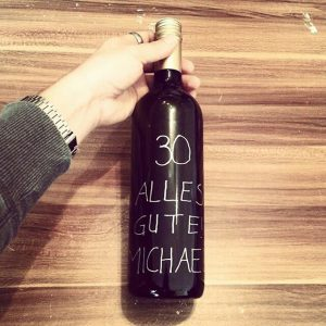 Personalisierte Flasche als Geschenk
