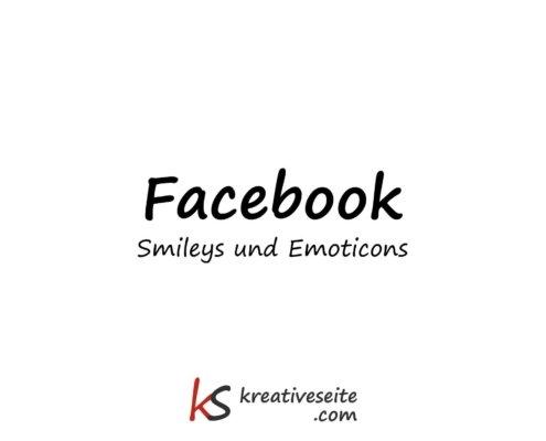 Facebook Smileys und Emoticons