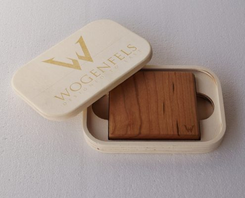 Wogenfels Holz Geldtasche