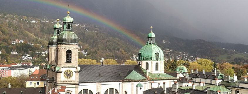 Innsbruck mit Regenbogen