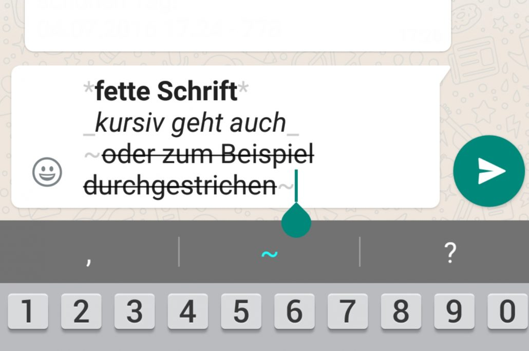 Whatsapp Web Fett Schreiben