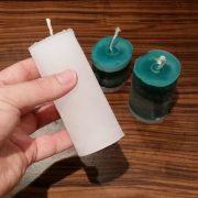 DIY Kerze aus Klopapierrolle