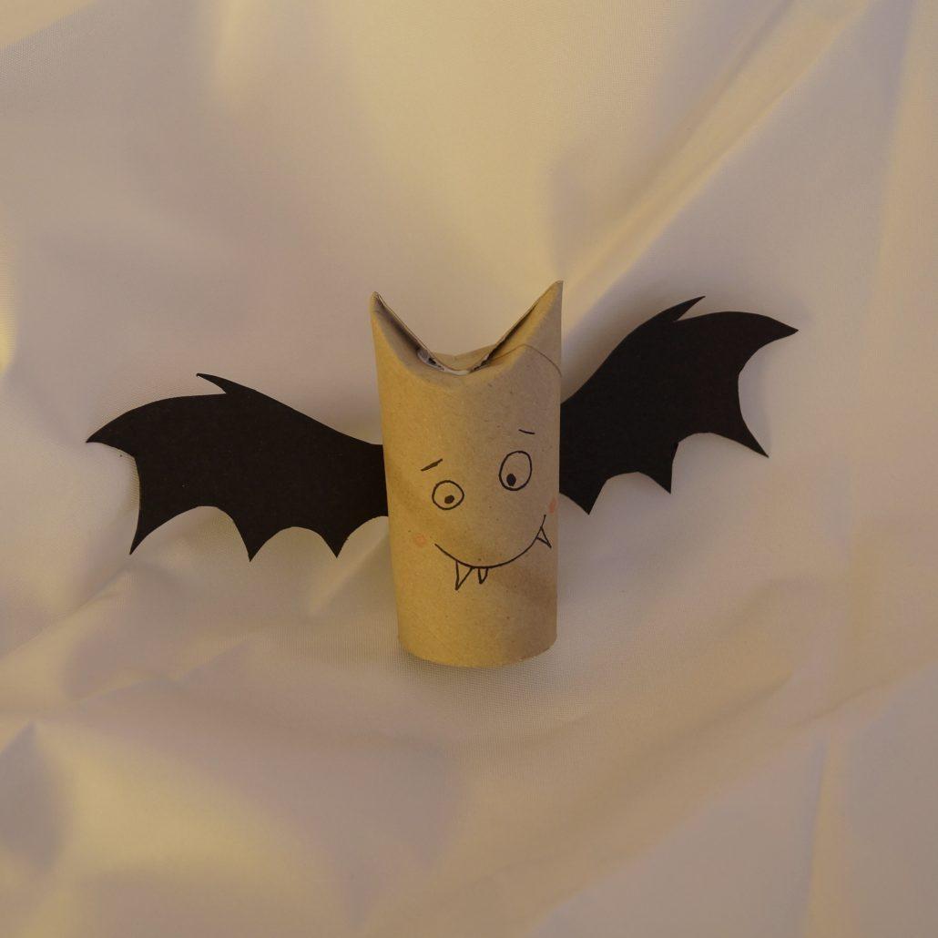 Fledermaus Aus Klopapierrolle Halloween Deko Kreativ