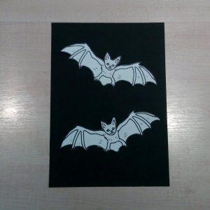 DIY Fledermaus Bild
