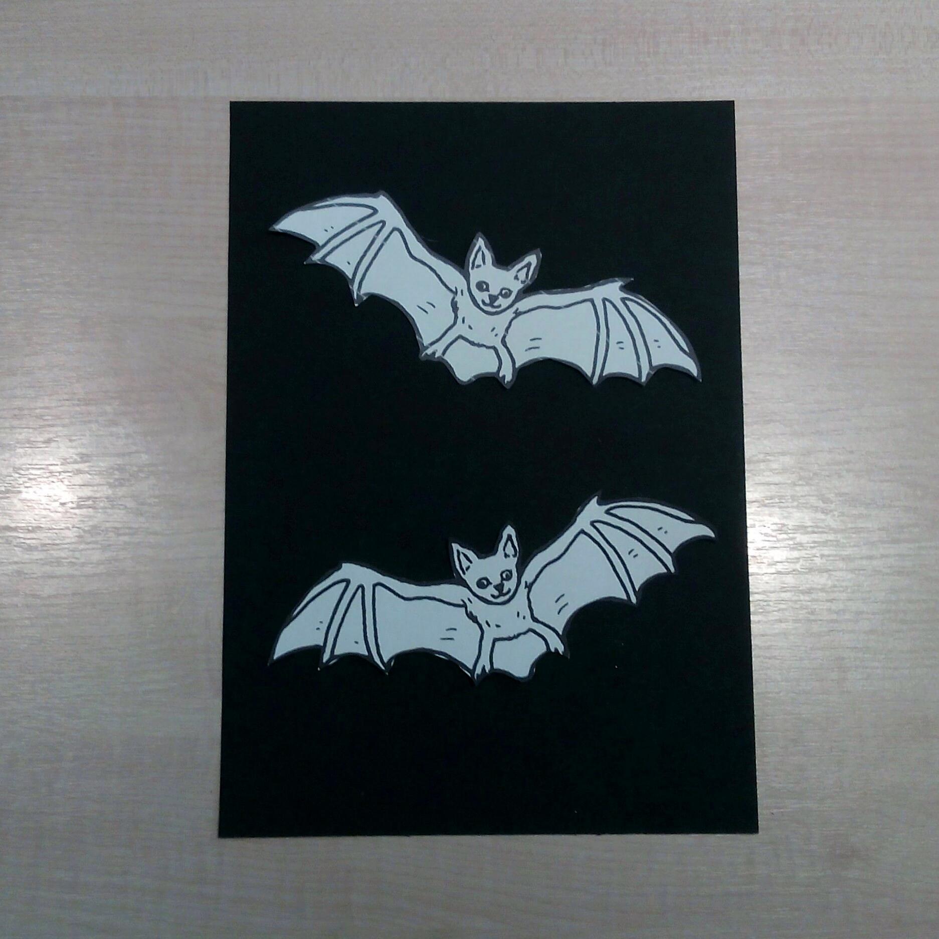 Fledermaus Bild Als Halloween Deko Kreativ Blog Diy Gadgets