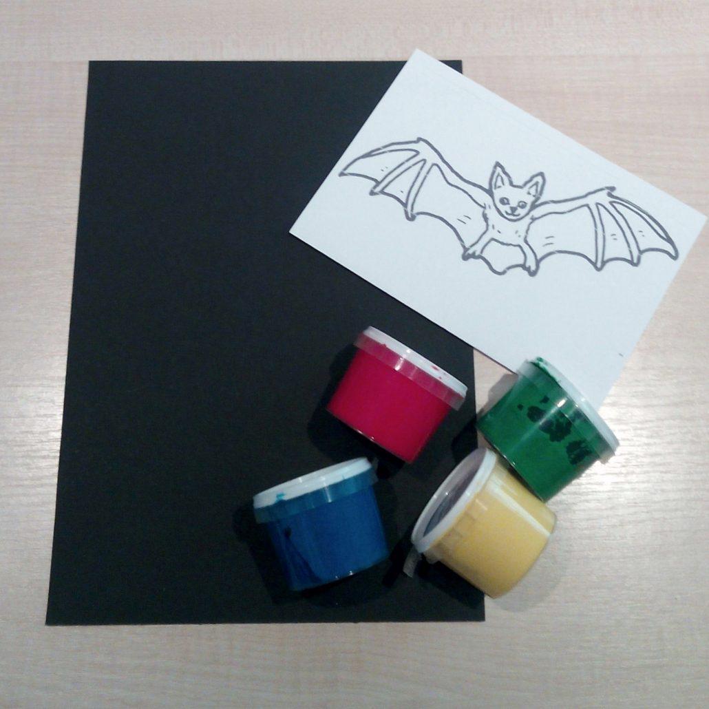 Fledermaus Bild als Halloween Deko • Kreativ Blog - DIY & Gadgets