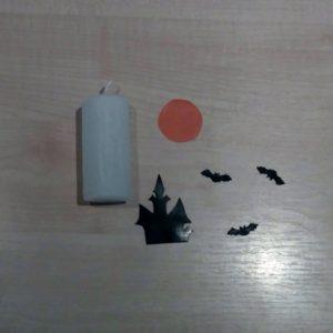 DIY Halloween Kerze