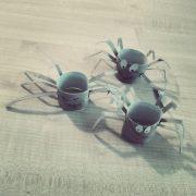 DIY Spinne aus Klopapierrolle