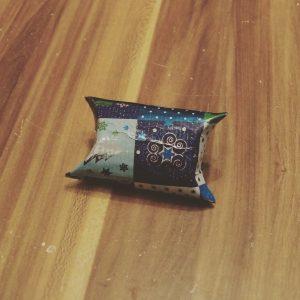 Geschenkverpackung aus Klopapierrolle