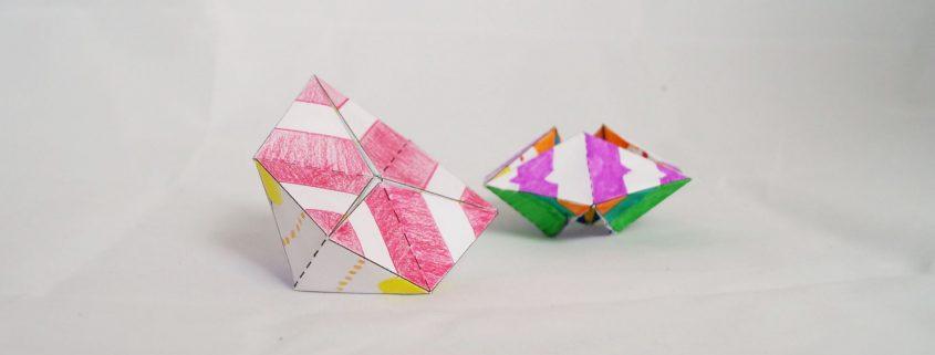 DIY Fidget Flextangle aus Papier