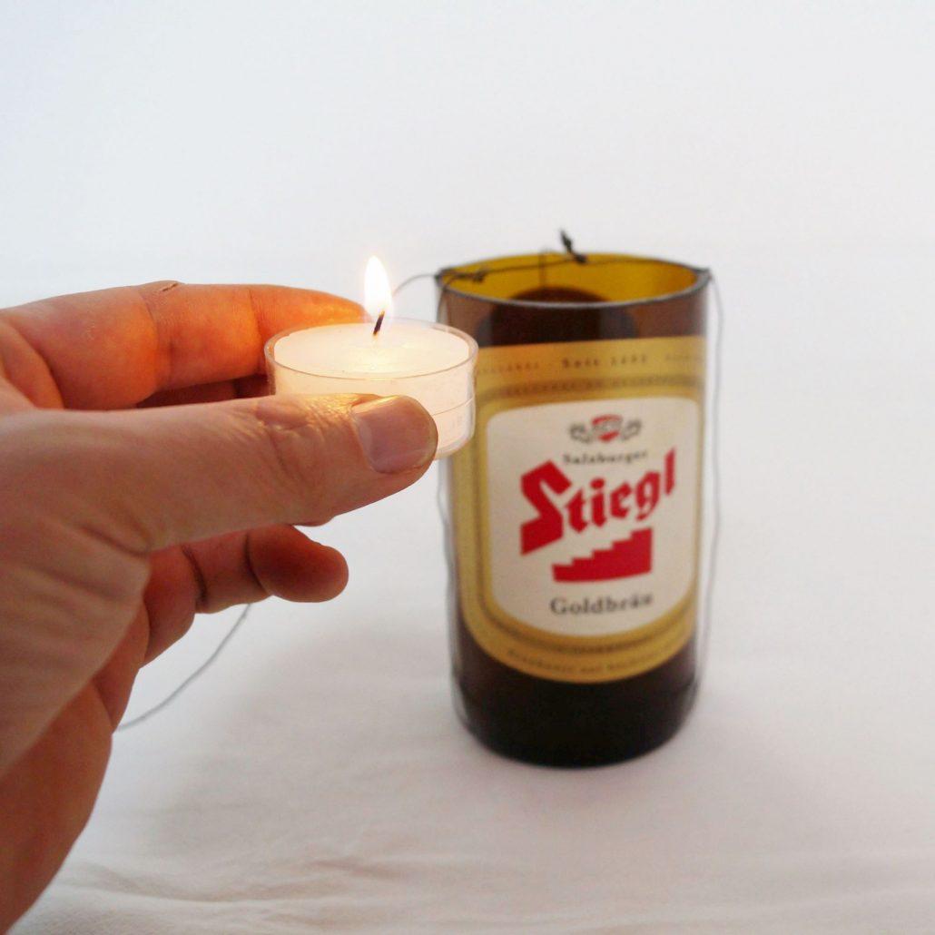 Laterne Aus Einer Bierflasche Basteln Diy Kreativ Blog