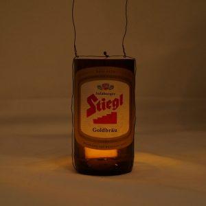 DIY Laterne aus Bierflasche