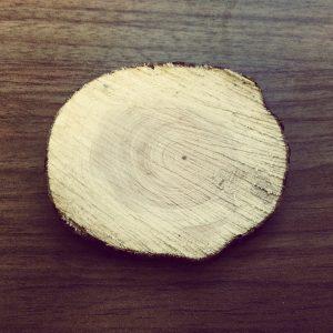 Herz Bild aus Holz, Nägel und Faden