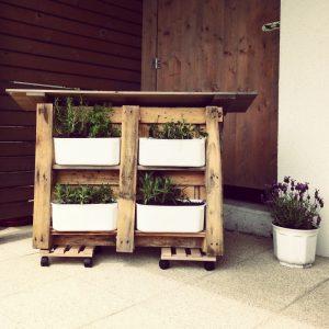 Mobiler Garten aus Paletten