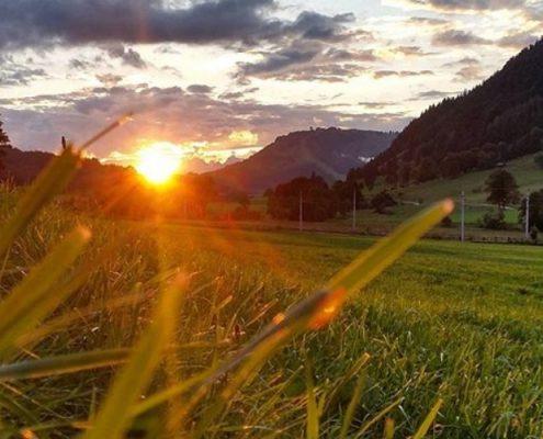 Sonnenuntergang beim Jakobskreuz