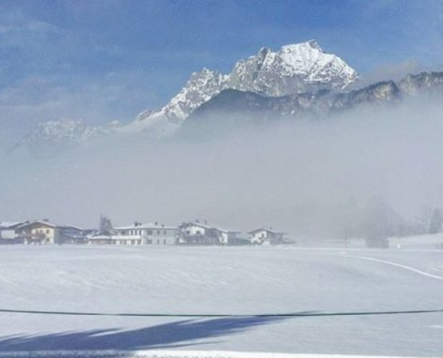 Wilder Kaiser im Winter in St. Johann