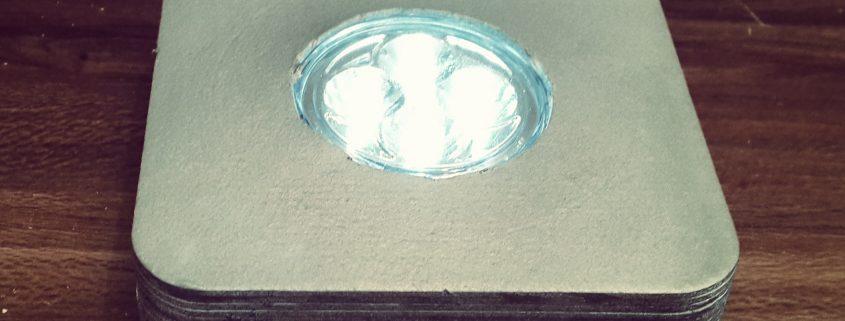 beleuchteter Flaschensockel