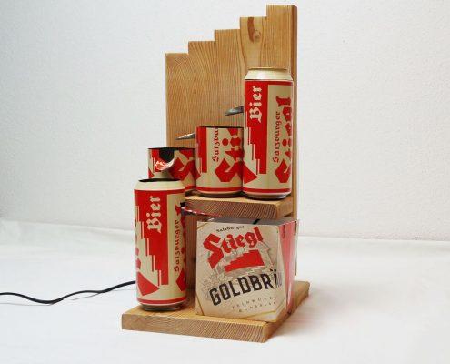 Brunnen aus Dosen – Stiegl Bier