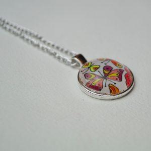 Cabochon Halskette selbstgemacht
