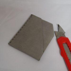 DIY Leder Geldtasche