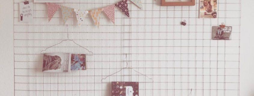 DIY Memo Gitter für die Wand (c) Theo und Zausel