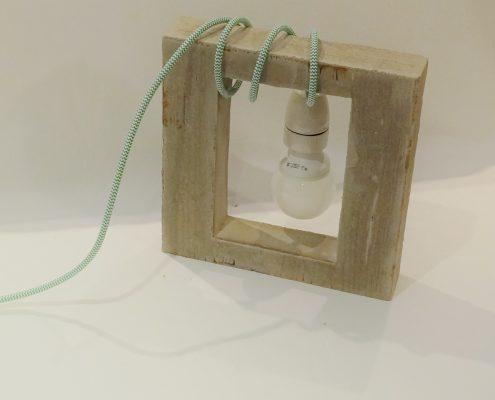 DIY Textilkabel Beton Lampe