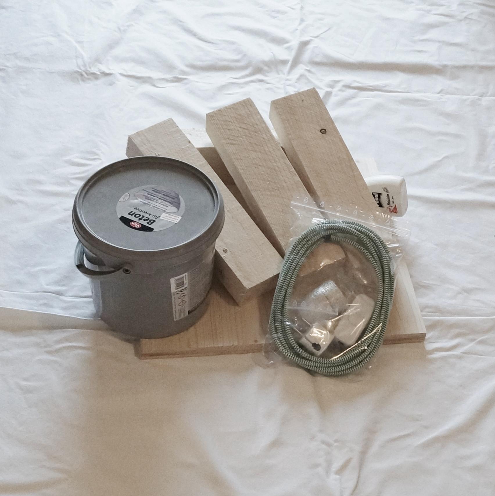 DIY Textilkabel Beton Lampe • Kreativ Blog - DIY & Gadgets
