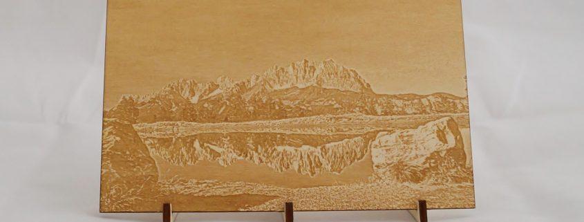 Fotogravur Bild aus Holz