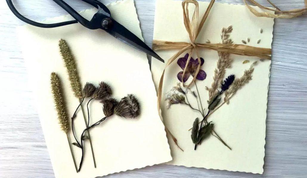 Diy Grußkarte Mit Getrockneten Blumen Kreativ Blog Diy