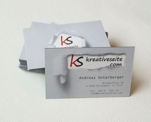 kreative Visitenkarte
