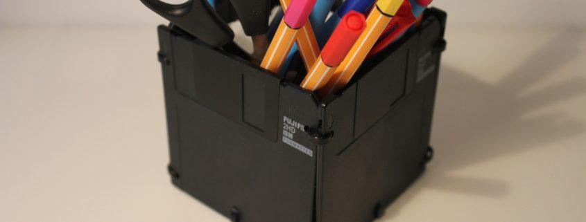 Stiftebox aus Disketten (c) zeitglueck