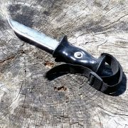 Upcycling Messer aus Sägeblatt und Skistock