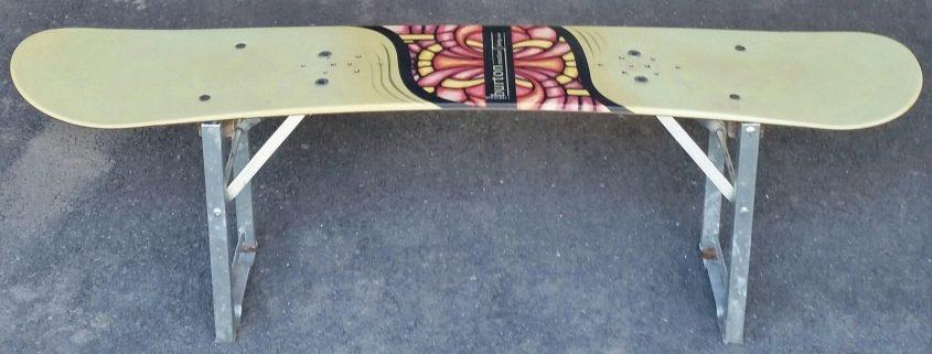 Snowboard Sitzbank