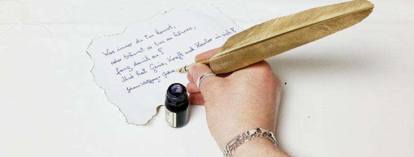 Sprüche von Goethe - Welttag der Poesie