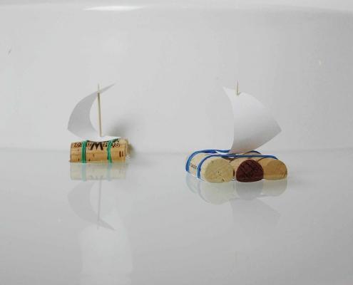 Schiff aus Weinkorken basteln