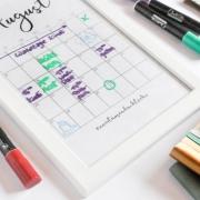 Abwachbarer Kalender (c) frau zuckerbrötchen