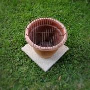 DIY Grill aus Blumentopf