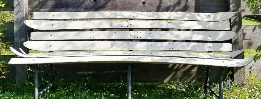 Sitzbank aus alten Ski - Upcycling