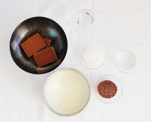 Schokolade Likör - Zutaten