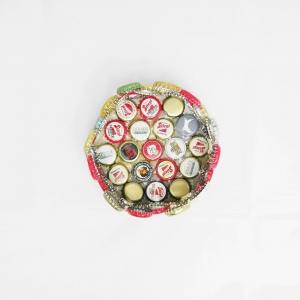 Korb aus Kronkorken - Upcycling