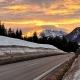 Sonnenuntergang in Waidring in Tirol
