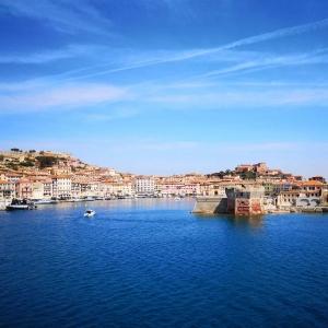 Blick auf Portoferraio in Elba