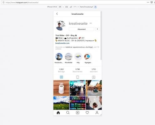 Instagram im Browser nutzen