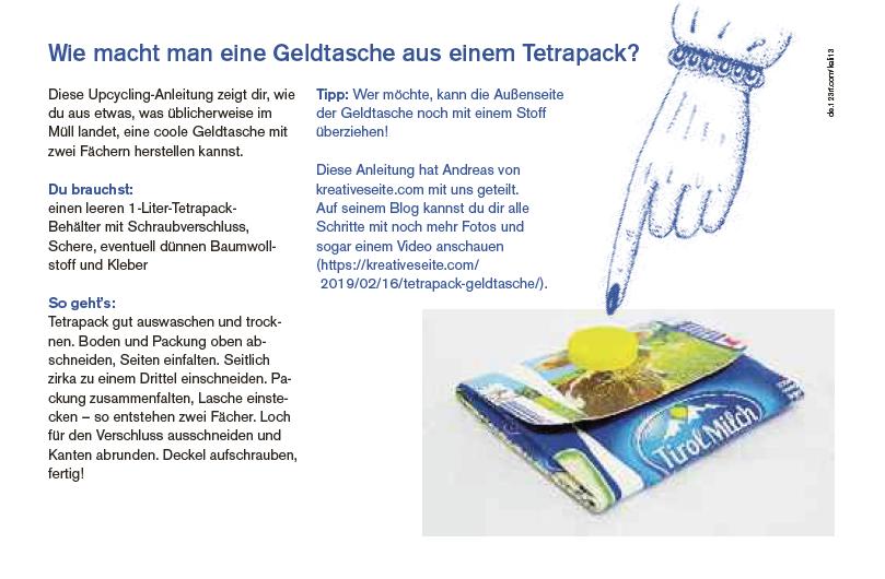 Tetrapack Geldtasche - Schallaburg Ausstellung