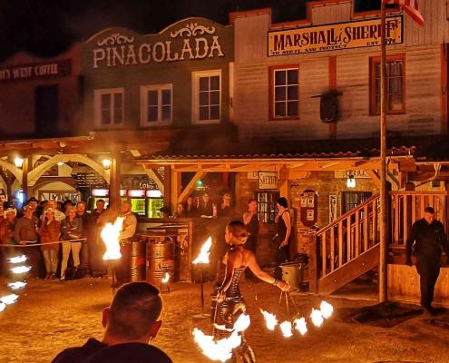 Feuershow Pullman City - Westernstadt in Bayern