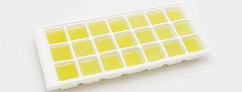 Zitronen Eiswürfel