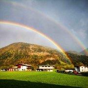 Doppelter Regenbogen - Kirchdorf in Tirol